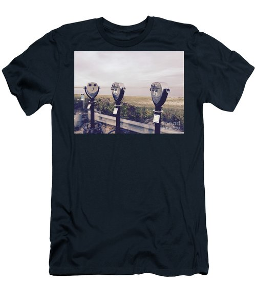 To See The Sea Men's T-Shirt (Slim Fit) by Beth Saffer