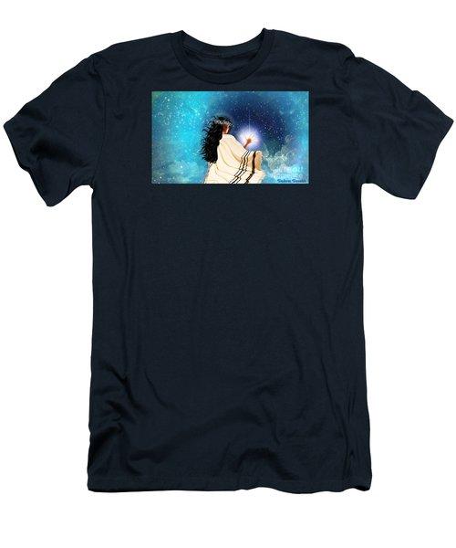 Touch The Light Men's T-Shirt (Slim Fit) by Dolores Develde
