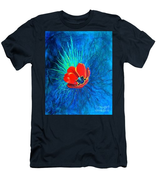 Men's T-Shirt (Athletic Fit) featuring the painting Touched By His Light by Nancy Cupp