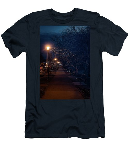 Town Street A Night Men's T-Shirt (Athletic Fit)