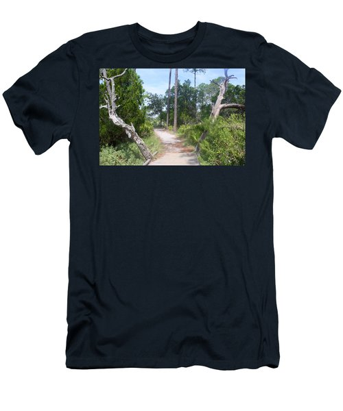 Trail On Hunting Island Men's T-Shirt (Slim Fit) by Ellen Tully