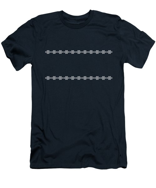 Treasure Knot In White Men's T-Shirt (Athletic Fit)