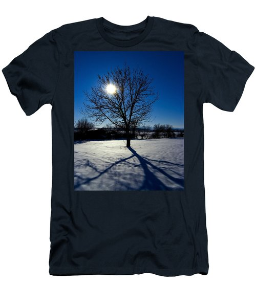 Tree Into Sun On A Winter Snowy Afternoon Men's T-Shirt (Athletic Fit)
