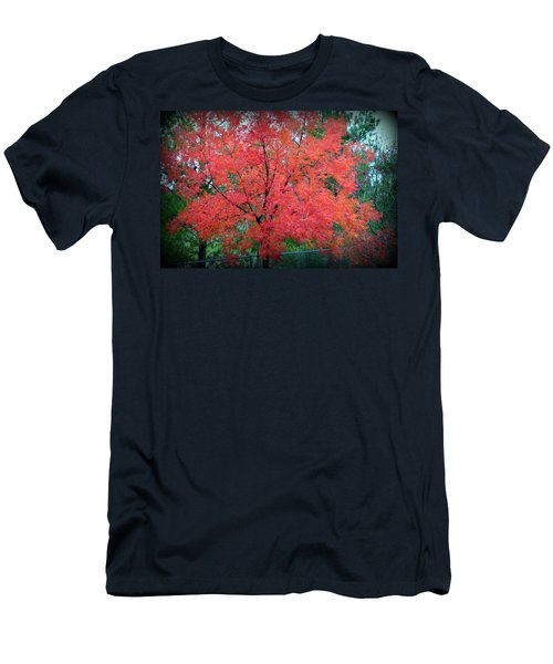 Men's T-Shirt (Athletic Fit) featuring the photograph Tree On Fire by AJ Schibig