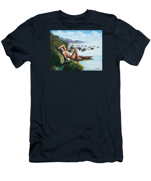 Trevor On The Beach Men's T-Shirt (Athletic Fit)