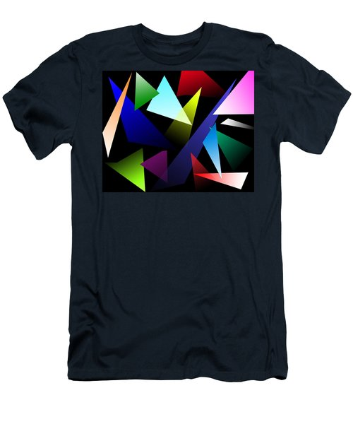 Triangles Men's T-Shirt (Slim Fit) by David Stasiak