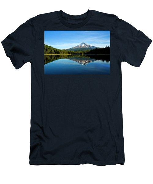 Trillium Lake Mt Hood Fall Men's T-Shirt (Athletic Fit)