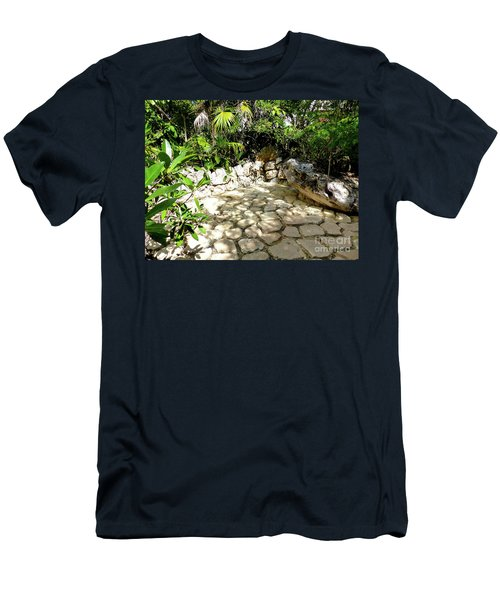 Men's T-Shirt (Athletic Fit) featuring the photograph Tropical Hiding Spot by Francesca Mackenney