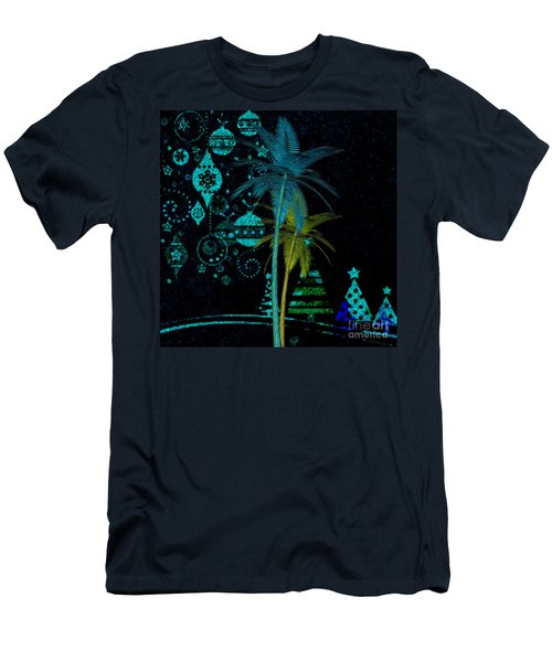 Tropical Holiday Blue Men's T-Shirt (Athletic Fit)