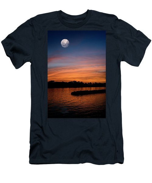Men's T-Shirt (Athletic Fit) featuring the photograph Tropical Moon by Laura Fasulo