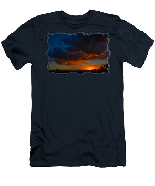 Men's T-Shirt (Athletic Fit) featuring the photograph Tucson Sunset H59 by Mark Myhaver
