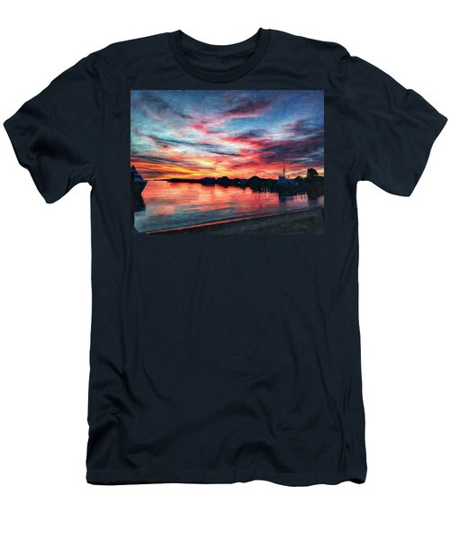 Tugboat Sirius At Sunrise Men's T-Shirt (Athletic Fit)