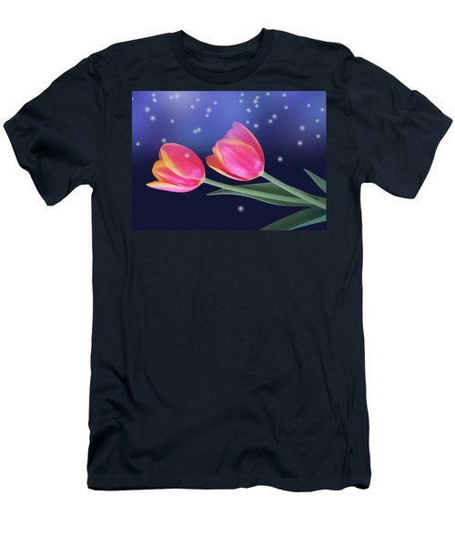 Tulips And Stars Men's T-Shirt (Athletic Fit)