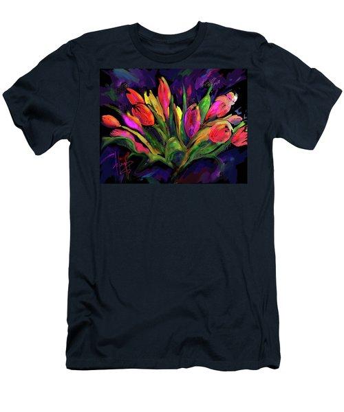 Tulips Men's T-Shirt (Slim Fit) by DC Langer