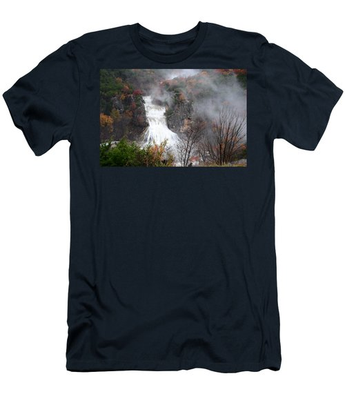 Turner Falls And Steam Men's T-Shirt (Athletic Fit)