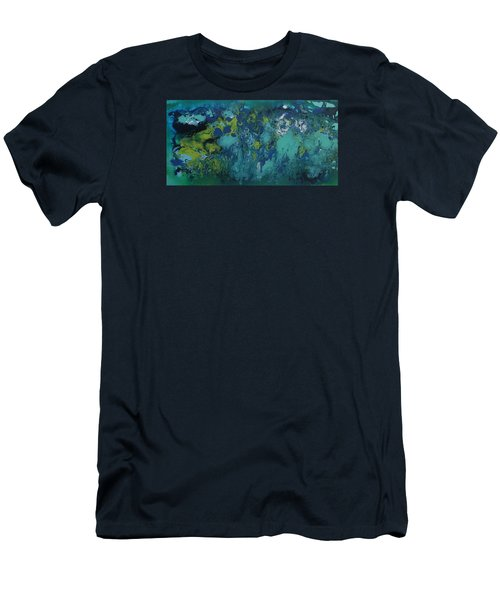 Turquoise Blue Men's T-Shirt (Athletic Fit)