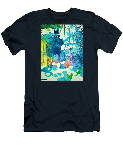 Turquoise Moose Men's T-Shirt (Slim Fit) by Jan Amiss Photography