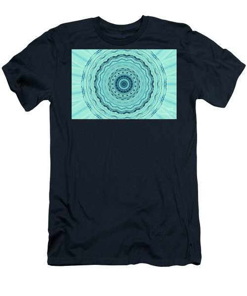 Turquoise Serenade Men's T-Shirt (Slim Fit) by Sheila Ping