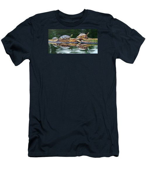 Turtle Family Men's T-Shirt (Athletic Fit)