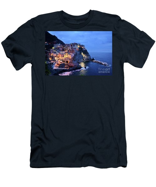 Tuscany Like Amalfi Cinque Terre Evening Lights Men's T-Shirt (Athletic Fit)