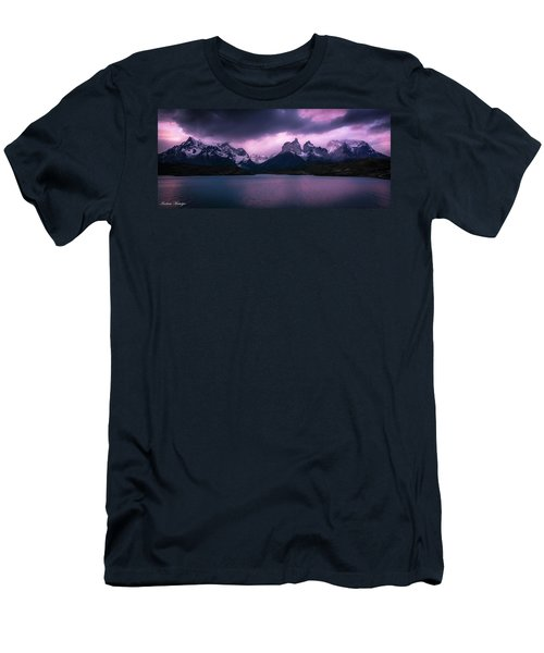 Men's T-Shirt (Slim Fit) featuring the photograph Twilight Over The Lake by Andrew Matwijec