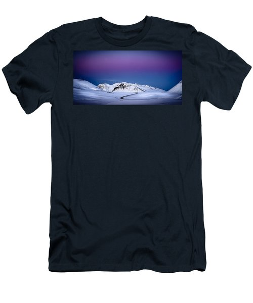 Twilight Glow, Iceland Men's T-Shirt (Athletic Fit)