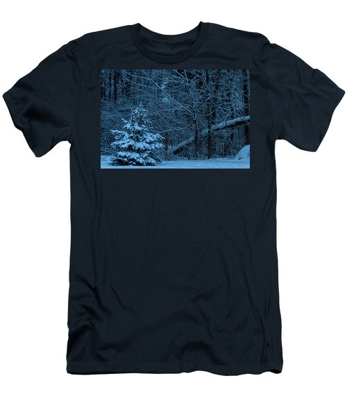 Men's T-Shirt (Slim Fit) featuring the photograph Twilight Snow by Trey Foerster