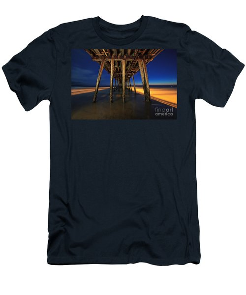 Twilight Under The Imperial Beach Pier San Diego California Men's T-Shirt (Athletic Fit)