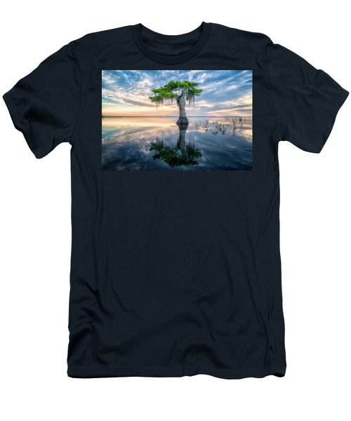 Twisted Cypress Mirror Men's T-Shirt (Athletic Fit)