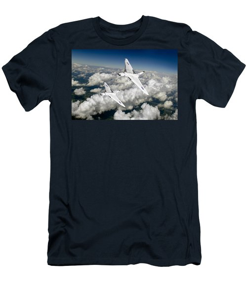 Two Avro Vulcan B1 Nuclear Bombers Men's T-Shirt (Athletic Fit)