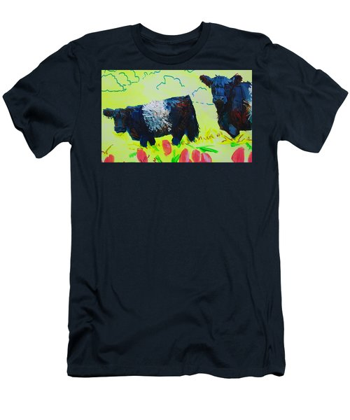 Two Belted Galloway Cows Looking At You Men's T-Shirt (Athletic Fit)