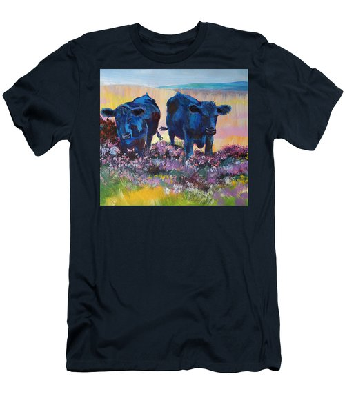 Two Black Cows On Dartmoor Men's T-Shirt (Athletic Fit)