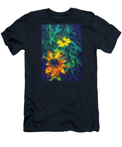 Two Flowers Men's T-Shirt (Slim Fit) by Carlee Ojeda