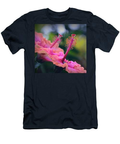 Two Hibiscus Men's T-Shirt (Slim Fit) by Lori Seaman