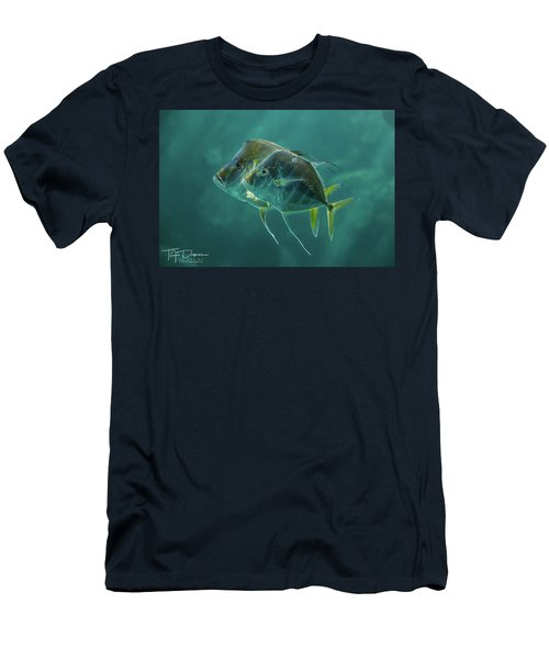 Two In Turquoise Men's T-Shirt (Athletic Fit)