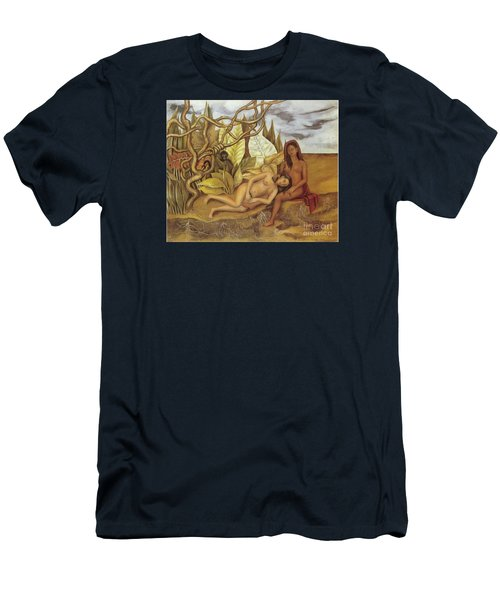 Two Nudes In The Forest Men's T-Shirt (Slim Fit) by Frida Kahlo