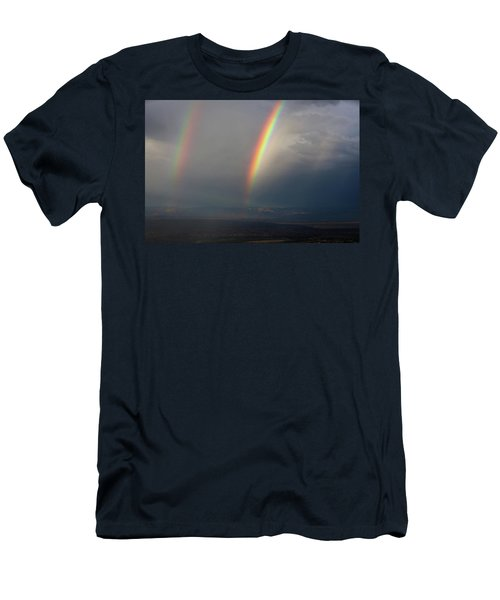 Two Rainbows Men's T-Shirt (Athletic Fit)