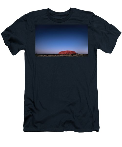 Men's T-Shirt (Athletic Fit) featuring the photograph Uluru Starry Night by Chris Cousins