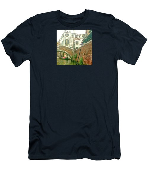 Men's T-Shirt (Athletic Fit) featuring the photograph Under The Bridge by Anne Kotan