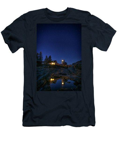 Under The Stars At Pemaquid Point Men's T-Shirt (Slim Fit) by Rick Berk