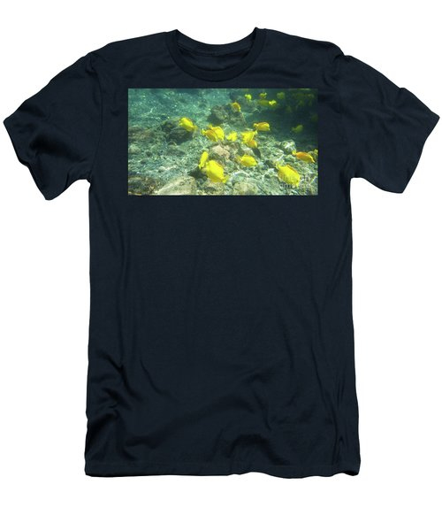 Underwater Yellow Tang Men's T-Shirt (Athletic Fit)