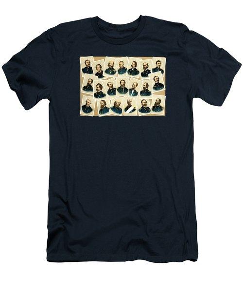Union Commanders Of The Civil War Men's T-Shirt (Athletic Fit)