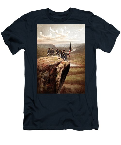 Union Soldiers On Lookout Mountain Men's T-Shirt (Athletic Fit)