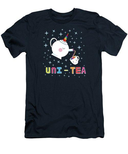 Unitea  Cute Unity Rainbow Tea Pot And Cup Men's T-Shirt (Athletic Fit)