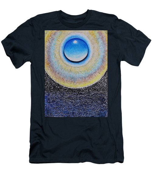 Universal Eye In Blue Men's T-Shirt (Athletic Fit)
