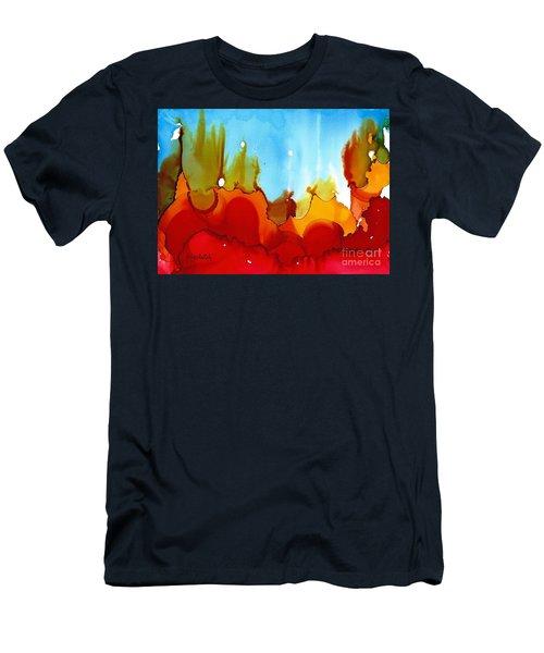 Up In Flames Men's T-Shirt (Slim Fit) by Yolanda Koh