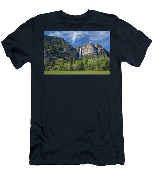 Upper Yosemite Falls In Spring Men's T-Shirt (Athletic Fit)