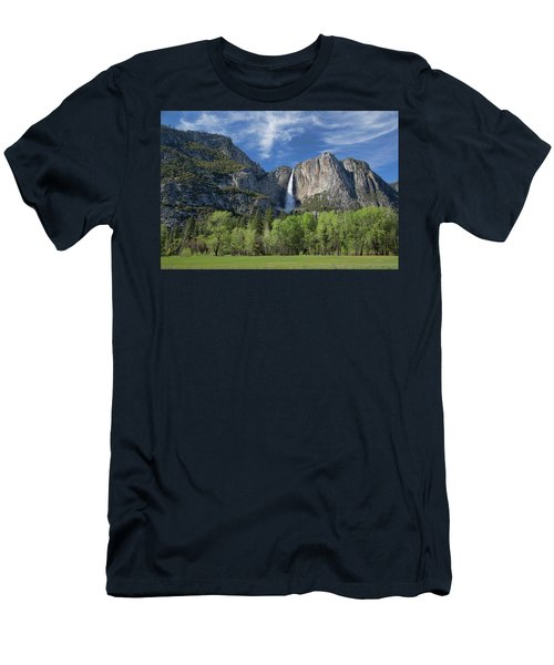 Upper Yosemite Falls In Spring Men's T-Shirt (Athletic Fit)