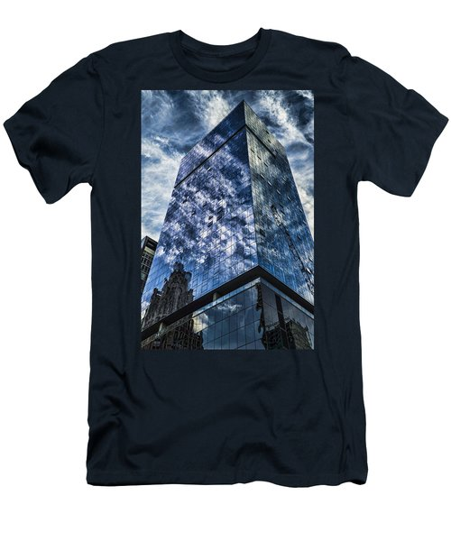 Urban Clouds Reflecting  Men's T-Shirt (Athletic Fit)