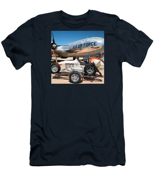 Us Air Force Airplane And Race Car  Men's T-Shirt (Athletic Fit)